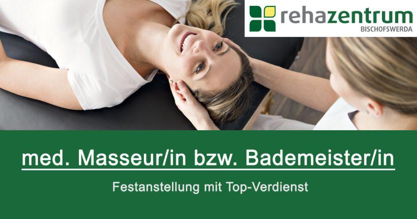 Stellenanzeige medizinsche(r) Masseur/in in Bischofswerda, Vollzeit, Festgehalt + Provision